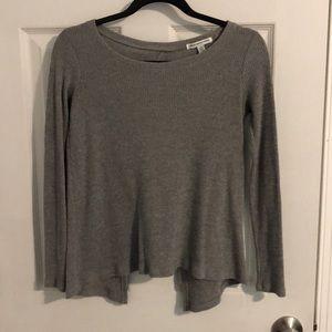 Women's American Eagle Gray Open Back Sweater